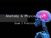 Anatomy & Physiology Exam I Review