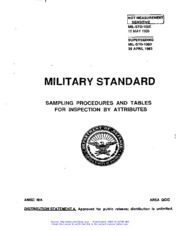 Mil-Std-105E Sampling Procedures And Tables For Inspection By Attributes