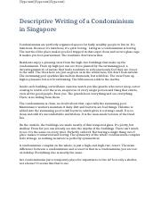 Descriptive Writing of a Condominium in Singapore.docx