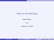 Many-to-OneMatching145