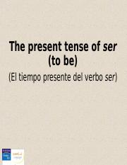 CH01_6. The present tense of ser.ppt