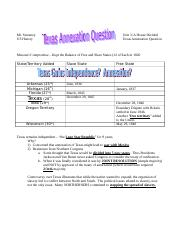 Texas Annexation Question - NOTES to Supplement Revolution Activity Make Up Notes.doc