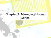 Ch 09 Managing human capital