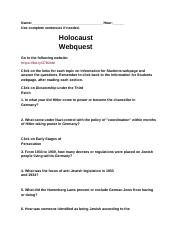 Holocaust_Webquest