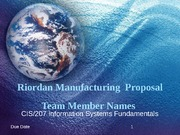 Week 5 Team Riordan Manufacturing Proposal