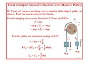Lecture 18 on Atwood's Machine