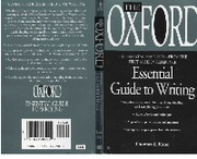 The Oxford Essential Guide to Writing - 1988