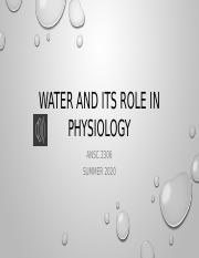 lect 4 Water and its Role in physiology lect.pptm