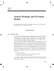 Chapter 12 Airport Drainage and Pavement Design