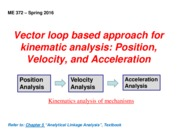 Vector loop based approach for kinematic analysisI_S2016