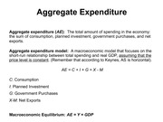 Lecture 15 Aggregate Expenditure
