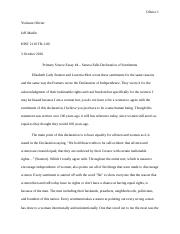 Primary Source Essay 4 Seneca Falls Declaration of Sentiments