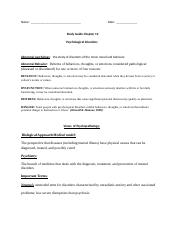 Chapter 12 Study Guide - Psychological Disorders.docx