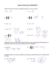 Chapter 6 Study Guide (worksheet) ANSWERS