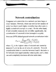 Network Centralization notes