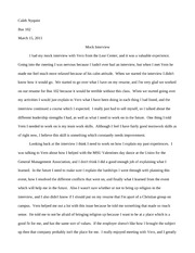 interview essay sample