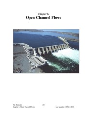 Chapter 6 - Open Channel Flows