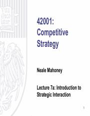 Lecture 7a - Introduction to Strategic Interaction.pdf