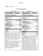 Food Label Assignment(1).doc