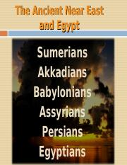 Mesopotamia and Egypt Update(1)