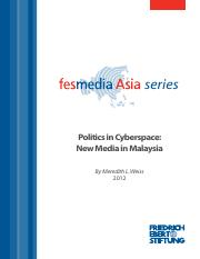 politics in cyberspace (new media in malaysia)