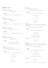 Homework 5 Solution Winter 2008 on Ordinary Differential Equations
