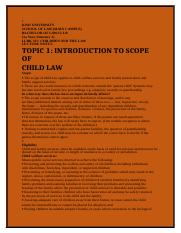child law notes Kenya summary