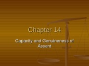 Chapter 14 - Contract Capacity & Consent
