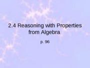2.4 Reasoning w props from Alg
