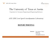 ASE 120K - Report Writing
