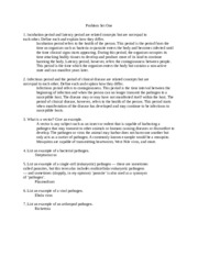 Public Health 180 Epidemiology of Infectious Disease Problem set 1