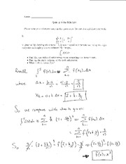 Quiz 9 Solution on Elementary Calculus