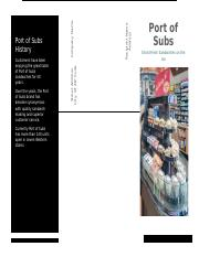 port of subs flyer