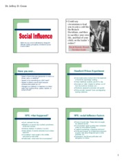 social influence slides handout