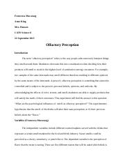 Science Fair 8| Olfactory Perception .docx
