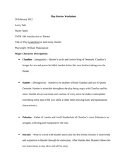 Play Review Worksheet 4
