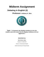 Debating in English (2) Midterm Assignment.docx
