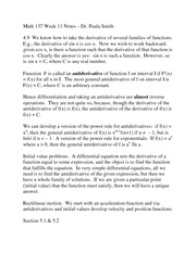 Math 137 Fall 2013 Week 11 Notes