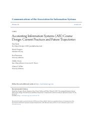 Accounting Information Systems (AIS) Course Design- Current Pract