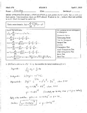 MY EXAM 2 SPRING 2010 SOLUTIONS