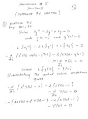 Homework E Solutions on Applied Differential Equations