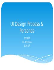 UI Design Process & Personas (1.30.17)