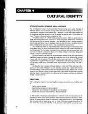Reading #2 - Cultural Identity