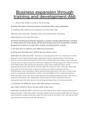 Business expansion through training and development Aldi Media.docx