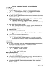 PSYC2101 Official notes