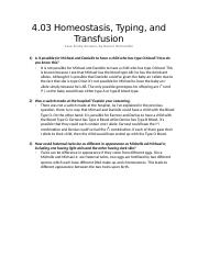 4.03 Homeostasis, Typing, and Transfusion.docx