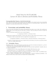 Decision and Probability Theory Notes