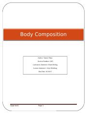 Lab 1 Body Composition Template -Revised    Fall 2017.docx