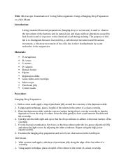 Lab Report- Microscopic Examination of Living Microorganisms.docx