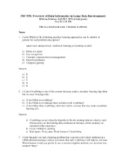 INF 550 Midterm-solution
